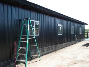 Putting metal on Barn 2