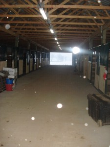 Hallway of new barn
