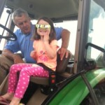 Evelyn on tractor